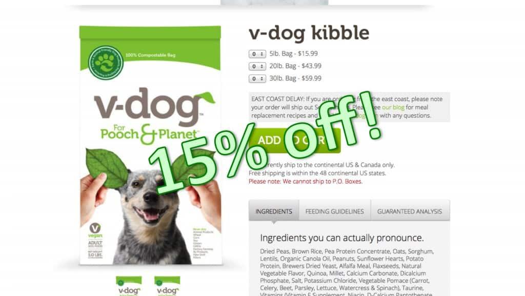 15% OFF V-dog