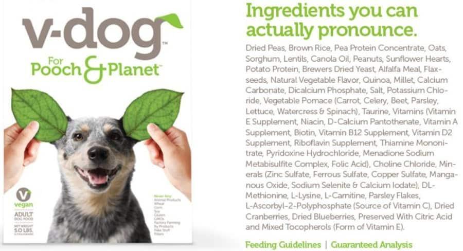 v-dog ingredients