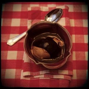 Affogato With Chocolate Sauce