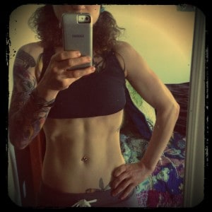 Emily Moran Barwick Vegan Abs Progress