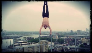 Tim Shieff Handstand on railing