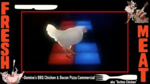 Dominos Dancing Techno Chicken Domino's BBQ Chicken and Bacon Pizza Commercial
