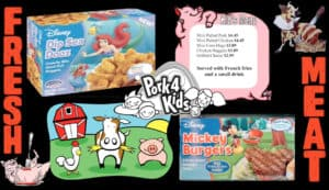 Animal product advertising aimed at children