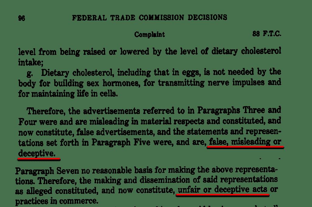 FTC Calls Egg Industry False Misleading Deceptive