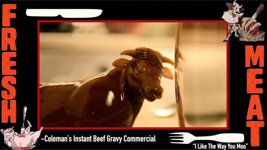 A screen shot of the Coleman's instant beef gravy commercial