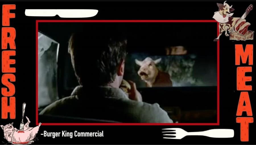 A screen shot from the Burger King commercial