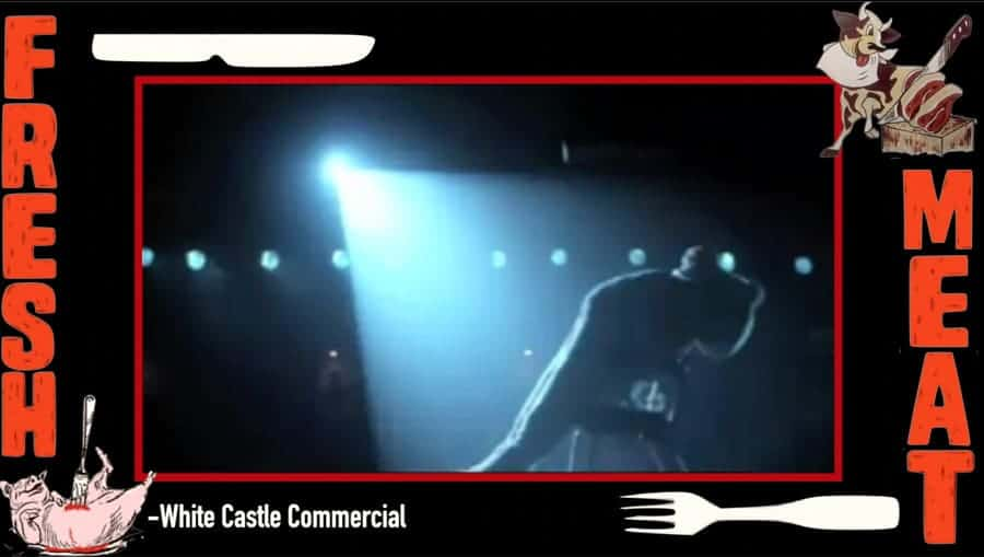A screen shot from the White Castle commercial