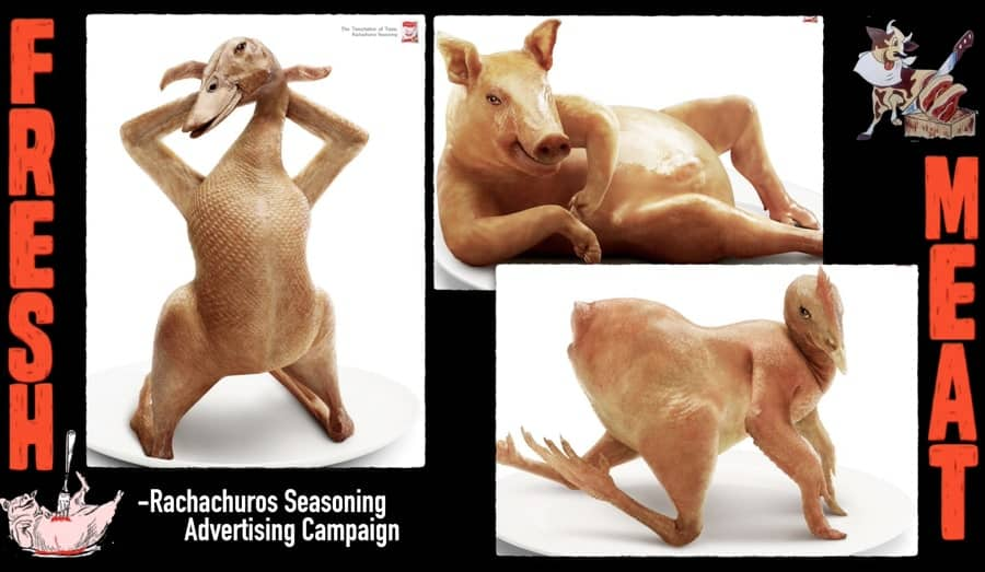A screen shot form the Rachachuros Seasoning advertising campaign