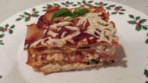 The veggie nut shares a hearty holiday lasagna